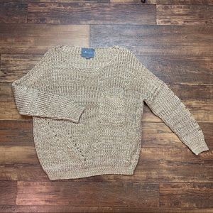 Anthropologie chunky cable knit oversized sweater